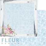 "Лист бумаги ""Цветочная рамка"", коллекция ""Летний сад"" (Fleur design), 30х30 см"