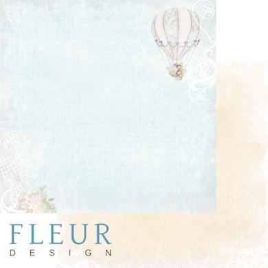 """Лист бумаги """"Свобода"""", коллекция """"Полет души"""" (Fleur design), 30х30 см"""