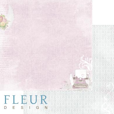 """Лист бумаги """"Дневники Франчески"""", коллекция """"Полет души"""" (Fleur design), 30х30 см"""