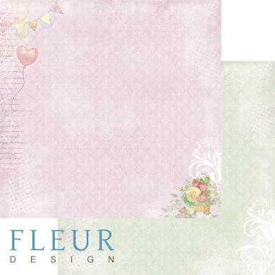"""Лист бумаги """"Любовное письмо"""", коллекция """"Полет души"""" (Fleur design), 30х30 см"""