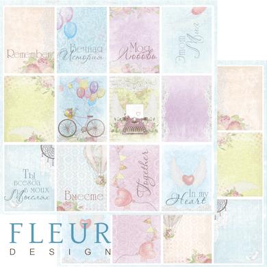 """Лист бумаги """"Конверты"""", коллекция """"Полет души"""" (Fleur design), 30х30 см"""