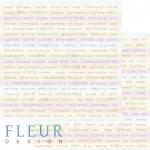 """Лист бумаги """"Слова"""", коллекция """"Полет души"""" (Fleur design), 30х30 см"""