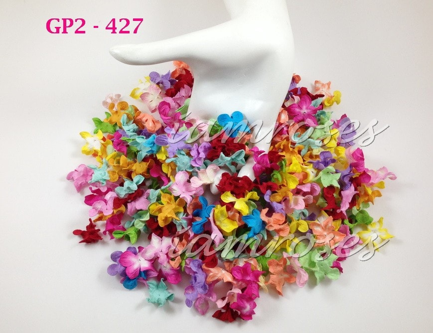 Гардения мини 2,5 см, микс цветов, 25 шт.