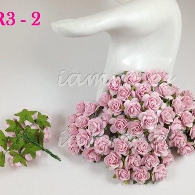 Открытые розочки 20 мм, нежно розовый, 5 шт.