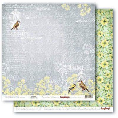 """Лист бумаги """"О, эта любовь"""", коллекция """"Разрисованная Вуаль"""" (ScrapBerry's), 30х30 см"""