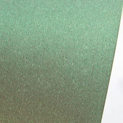 """Дизайнерская бумага """"Сияние"""" с перламутром, цвет зеленый, 290 г/м2."""
