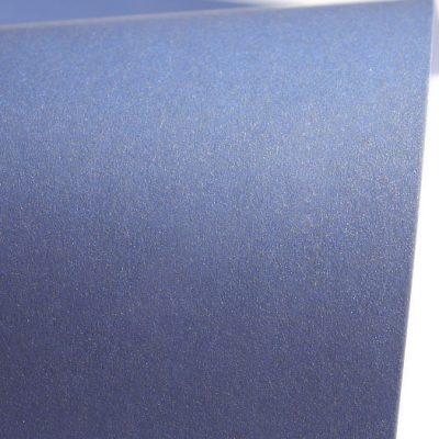 """Дизайнерская бумага """"Сияние"""" с перламутром, цвет синий, 290 г/м2."""