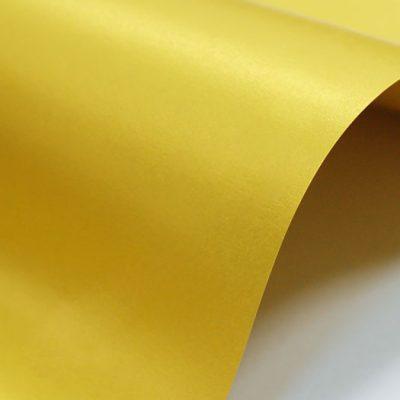 """Дизайнерская бумага """"Жемчужная"""" с перламутром, цвет золото, 300 г/м2."""