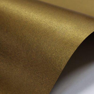 """Дизайнерская бумага """"Жемчужная"""" с перламутром, цвет бронза, 300 г/м2."""