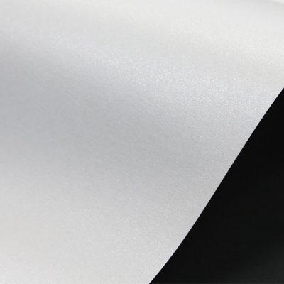 """Дизайнерская бумага """"Жемчужная"""" с перламутром, цвет цвет полярный рассвет (белый), 300 г/м2."""