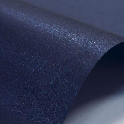 """Дизайнерская бумага """"Жемчужная"""" с перламутром, цвет мерцающий тёмно-синий, 300 г/м2."""
