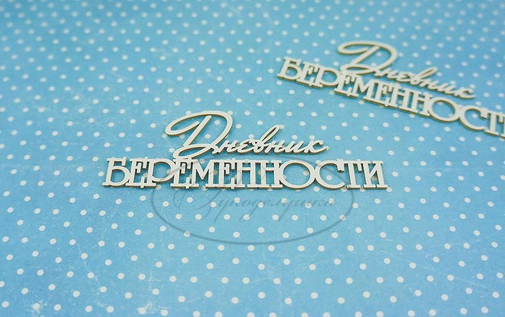 "Чипборд ""Дневник беременности (надпись) 1"" (Рукоделушка), 2 шт."