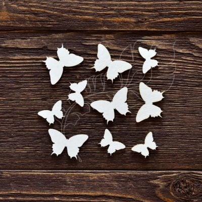 "Чипборд ""Набор бабочек №2"" (Арт Лайн), 10 эл."