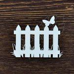 """Чипборд """"Забор с бабочкой"""" (Арт Лайн), 1 эл."""
