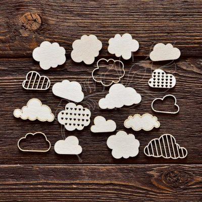 """Чипборд """"Набор облака"""" (Арт Лайн), 15 эл."""