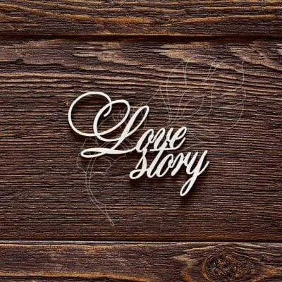 "Чипборд ""Надпись Love story"" (Арт Лайн), 1 эл."
