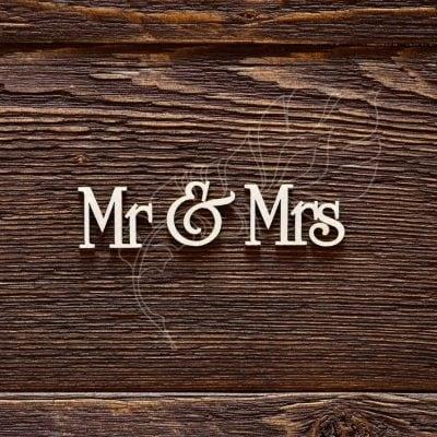 "Чипборд ""Надпись Mr & Mrs"" (Арт Лайн), 1 эл."