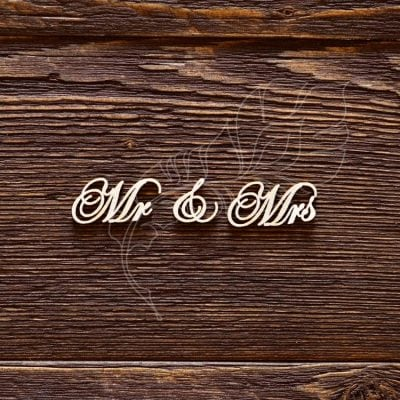 "Чипборд ""Надпись Mr & Mrs №3"" (Арт Лайн), 1 эл."