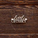 "Чипборд ""Надпись little dreamer (облачка)"" (Арт Лайн), 1 эл."