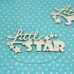 "Чипборд ""Надпись Little Star"" (Рукоделушка), 2 шт."