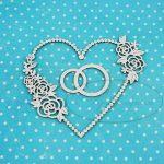"""Чипборд """"Обручальные кольца в сердце 1"""" (Рукоделушка), 1 шт."""