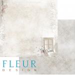 """Лист бумаги """"Зимний домик"""", коллекция """"Шале"""" (Fleur design), 30х30 см"""