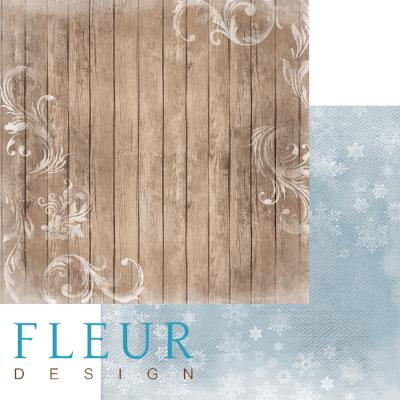 """Лист бумаги """"Изморозь"""", коллекция """"Шале"""" (Fleur design), 30х30 см"""
