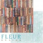 """Лист бумаги """"Книжная полка"""", коллекция """"Блошиный рынок"""" (Fleur design), 30х30 см"""