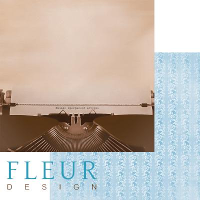 """Лист бумаги """"Печатная машинка"""", коллекция """"Блошиный рынок"""" (Fleur design), 30х30 см"""