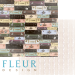"""Лист бумаги """"Саквояж"""", коллекция """"Блошиный рынок"""" (Fleur design), 30х30 см"""