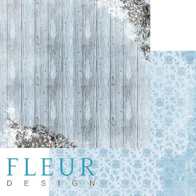 """Лист бумаги """"Луннная доска"""", коллекция """"Блошиный рынок"""" (Fleur design), 30х30 см"""