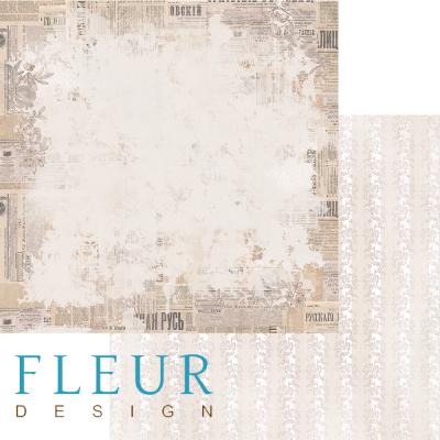 """Лист бумаги """"Французский Вестник"""", коллекция """"Блошиный рынок"""" (Fleur design), 30х30 см"""