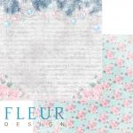"""Лист бумаги """"Песенка Рождества"""", коллекция """"Новогодняя сказка"""" (Fleur design), 30х30 см"""