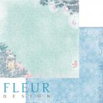 """Лист бумаги """"Очаг"""", коллекция """"Новогодняя сказка"""" (Fleur design), 30х30 см"""