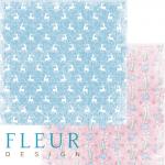 """Лист бумаги """"Узоры"""", коллекция """"Новогодняя сказка"""" (Fleur design), 30х30 см"""