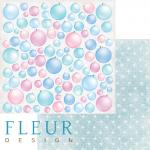 """Лист бумаги """"Елочные игрушки"""", коллекция """"Новогодняя сказка"""" (Fleur design), 30х30 см"""