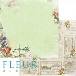 "Лист бумаги ""Цветочная фантазия"", коллекция ""Краски осени"" (Fleur design), 30х30 см"