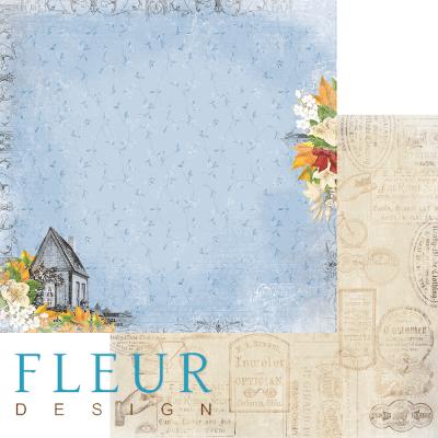 """Лист бумаги """"Пение птиц"""", коллекция """"Краски осени"""" (Fleur design), 30х30 см"""