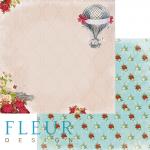 "Лист бумаги ""Воспоминания"", коллекция ""Краски осени"" (Fleur design), 30х30 см"