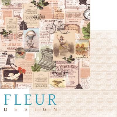 "Лист бумаги ""Полет в небеса"", коллекция ""Краски осени"" (Fleur design), 30х30 см"