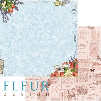 "Лист бумаги ""Мелодия осени"", коллекция ""Краски осени"" (Fleur design), 30х30 см"