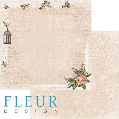"""Лист бумаги """"Утренняя прохлада"""", коллекция """"Краски осени"""" (Fleur design), 30х30 см"""