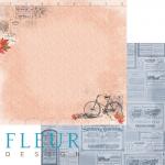 """Лист бумаги """"Обрывки памяти"""", коллекция """"Краски осени"""" (Fleur design), 30х30 см"""