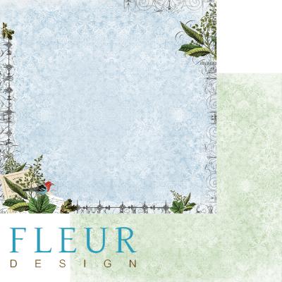 """Лист бумаги """"Осеннее вдохновение"""", коллекция """"Краски осени"""" (Fleur design), 30х30 см"""