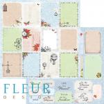 "Лист бумаги ""Карточки"", коллекция ""Краски осени"" (Fleur design), 30х30 см"