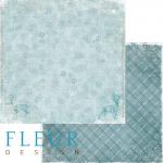 """Лист бумаги """"Метель"""", коллекция """"Зимние узоры"""" (Fleur design), 30х30 см"""