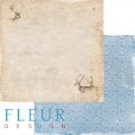 """Лист бумаги """"Лесные олени"""", коллекция """"Зимние узоры"""" (Fleur design), 30х30 см"""