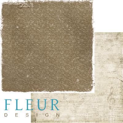 """Лист бумаги """"Замело"""", коллекция """"Зимние узоры"""" (Fleur design), 30х30 см"""