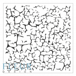 "Трафарет ""Трещины"" (Fleur design), 15*15 см"