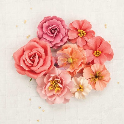 "Декоративные  цветы ""Margarite"" (Prima), розовый, 8 шт."